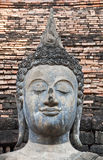 Buddha in temple of Sukhothai ancient city. Royalty Free Stock Photo