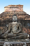 Buddha in temple of Sukhothai ancient city. Royalty Free Stock Photography