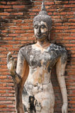 Buddha in temple of Sukhothai ancient city. Royalty Free Stock Image