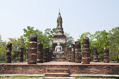 Buddha in temple of Sukhothai ancient city. Stock Image