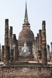 Buddha in temple of Sukhothai ancient city. Royalty Free Stock Photos