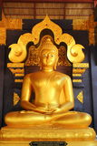 Buddha in a temple of Thailand. Royalty Free Stock Photo
