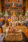 Buddha in a temple of Thailand Stock Photography