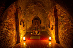 Buddha in a temple tunnel Royalty Free Stock Photos