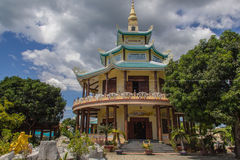 Buddha temple in Vietnam. stock photo