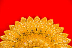 Buddha temple wall and thai style ceiling Royalty Free Stock Images