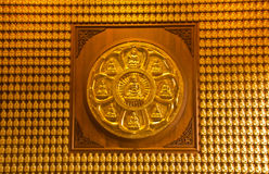 Buddha temple wall in Wat-Leng-Noei-Yi Stock Image
