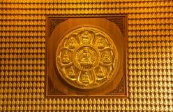 Buddha temple wall in Wat-Leng-Noei-Yi Stock Image