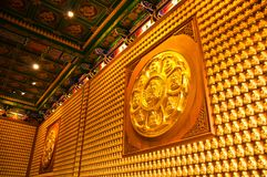 Buddha temple wall in Wat-Leng-Noei-Yi Stock Images