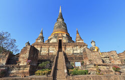 Buddha  temple of Wat Yai Chai Stock Photos