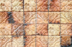 Buddha texture tile wall Stock Photo