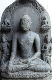 Buddha. From 10th century found in Bihar now exposed in the Indian Museum in Kolkata, on Nov 24, 2012 royalty free stock photo