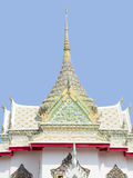 Buddha. The Thai architectural type of four sided  square building and various different roofs Royalty Free Stock Images