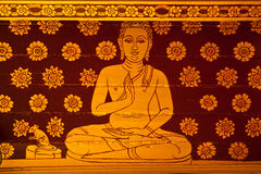 Buddha Thai Painting. This is a real thai art painting,it's mean to skill of artist Royalty Free Stock Image