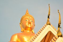 Buddha and Thai temple Royalty Free Stock Image