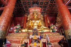 Buddha in thailand. Buddha is culture of nan in thailand Royalty Free Stock Images