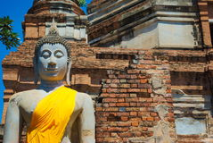 Buddha in Thailand temple royalty free stock images