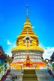 Buddha Thailand temple Wat Prathat Doi Saket Stock Photos