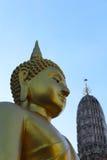 Buddha of Thailand. In Wat Arun Rajwarara Stock Images