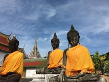 Buddha. `Three Buddha` In Wat Phra That Chaiya Suratthani, Thailand Royalty Free Stock Photography