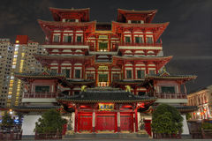 Buddha Tooth Relic Chinese Temple. And Museum in Singapore Stock Photo