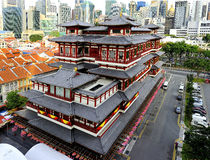 The Buddha Tooth Relic Temple. And Museum is a Buddhist temple and museum complex located in the Chinatown district of Singapore stock image