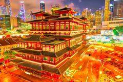 Buddha Tooth Relic Temple royalty free stock images