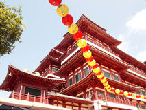 Buddha Tooth Relic Temple in China Town Singapore Royalty Free Stock Image