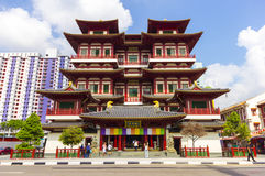 Buddha Tooth Relic Temple in China Town Singapore Stock Photo