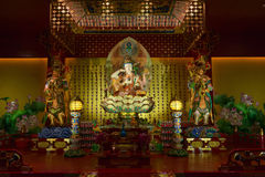 Buddha in Tooth Relic Temple in China Town, Singapore Royalty Free Stock Image