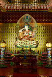 Buddha in Tooth Relic Temple in China Town, Singapore Royalty Free Stock Photo