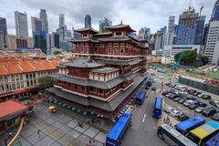 The Buddha Tooth Relic Temple in Chinatown, Singapore Stock Photography