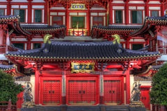 Buddha Tooth Relic Temple Front Doors Royalty Free Stock Image