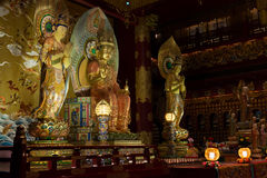 Buddha in Tooth Relic Temple in China Town, Singapore Stock Photography