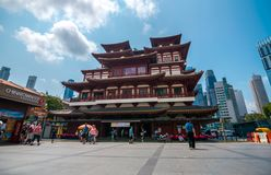 The Buddha Tooth Relic Temple. stock images