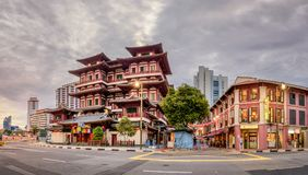 Buddha Tooth Relic Temple and Museum stock images