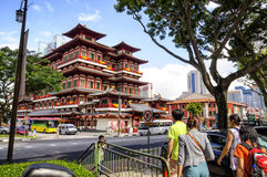 BUDDHA TOOTH RELIC TEMPLE Stock Photo