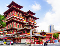 Buddha Tooth Relic temple. Stock Photography