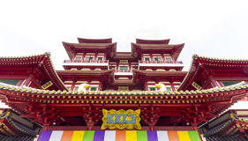 Buddha Tooth Relic Temple on white Stock Images