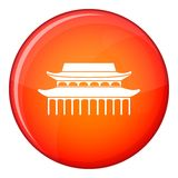 Buddha Toothe Relic Temple in Singapore icon. In red circle isolated on white background vector illustration Royalty Free Stock Images