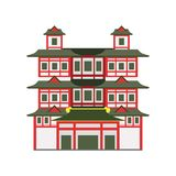 Buddha Toothe Relic Temple, Singapore vector Illustration. On a white background Royalty Free Stock Image