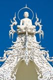 buddha on top of white chruch  Stock Photos