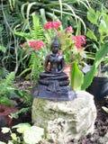 buddha trädgård Arkivbild