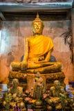 Buddha in the tree at Wat Bangkung Stock Image