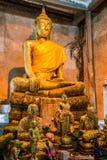 Buddha in the tree at Wat Bangkung Stock Photos
