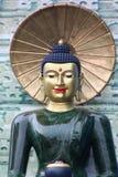 buddha tät jade upp Arkivbild