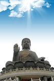 buddha tusen dollar Hong Kong Royaltyfri Fotografi