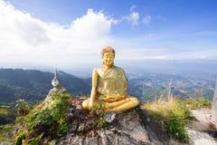 Buddha. With Twilight sky background stock photography