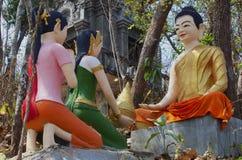 Buddha u. seine Schüler lizenzfreie stockbilder