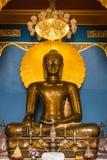 Buddha in un tempiale della Tailandia Fotografie Stock